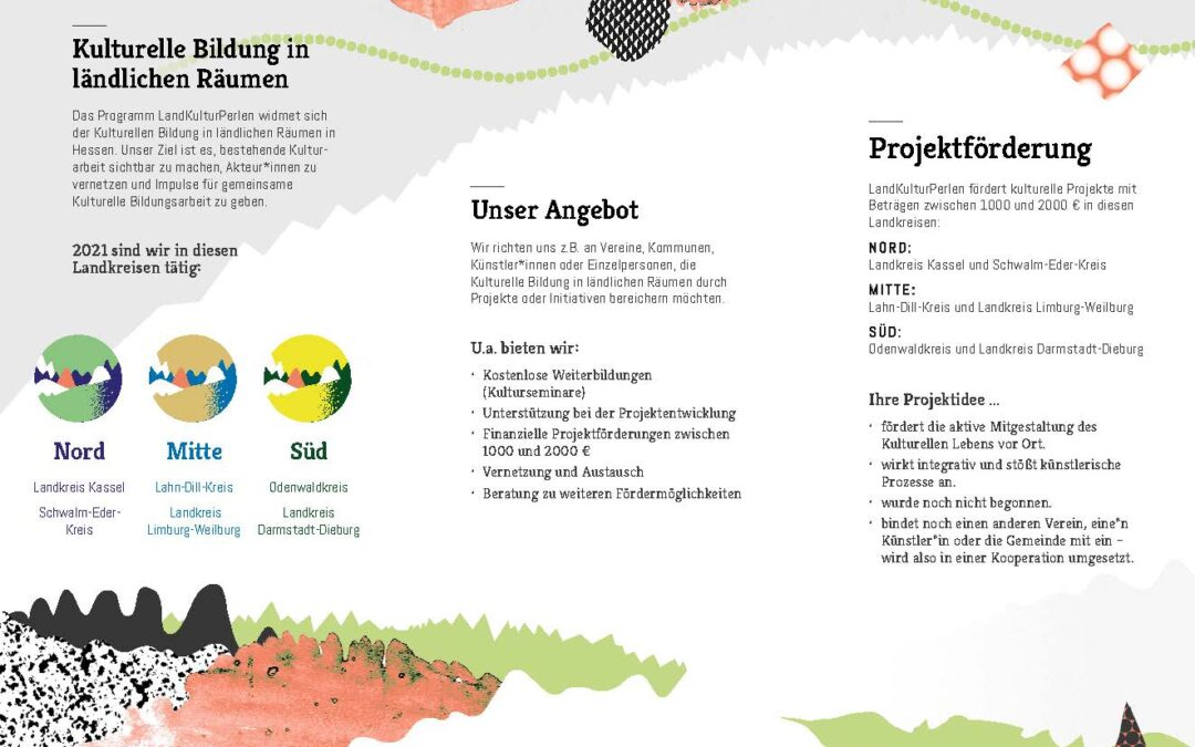 Förderung: LandKulturPerlen fördert Projekte der Kulturellen Bildung